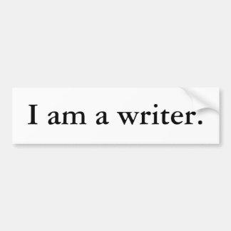 I am a writer bumper sticker