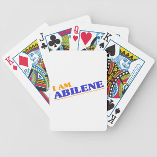I am Abilene Bicycle Playing Cards