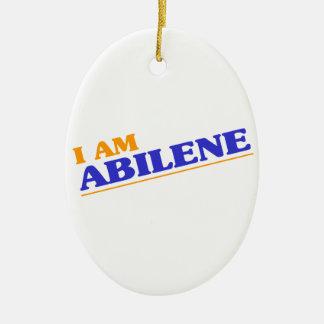 I am Abilene Ceramic Oval Decoration