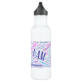 I Am Affirmations Water Bottle