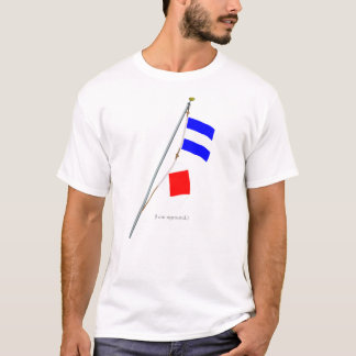 "I am aground, ""JF"" Nautical Signal Flag hoist T-Shirt"