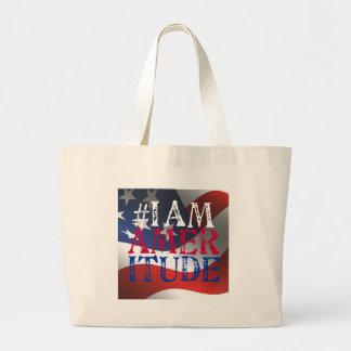 I Am Ameritude Gear Jumbo Tote Bag