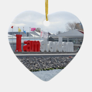 I am Amsterdam Sign, Netherlands Ceramic Ornament