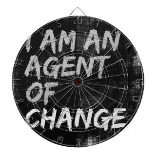 I Am An Agent of Change Dartboard