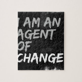 I Am An Agent of Change Jigsaw Puzzle