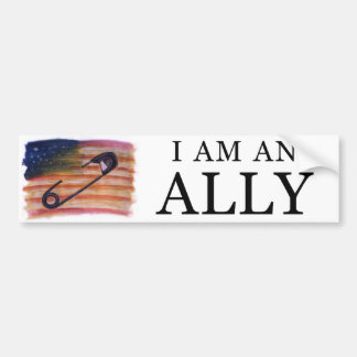 I am an ally bumper sticker