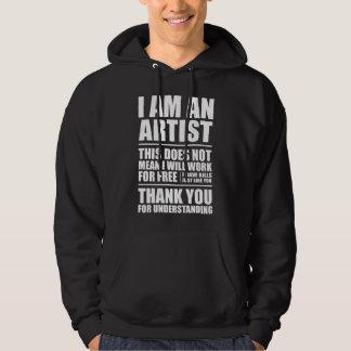 I am an artist hoodie