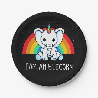 I am an Elecorn Paper Plate