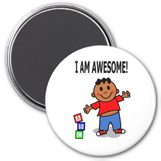 I AM AWESOME! Cute Cartoon Boy Magnet