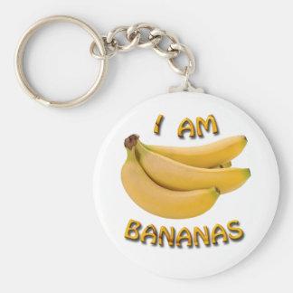 I Am Bananas Basic Round Button Keychain