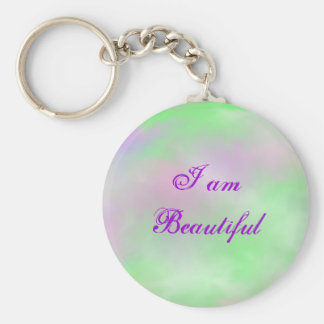 I am Beautiful (Soft Beauty) Basic Round Button Key Ring