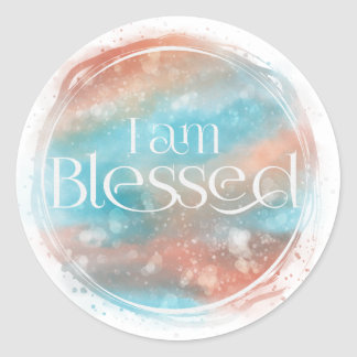I am Blessed Classic Round Sticker