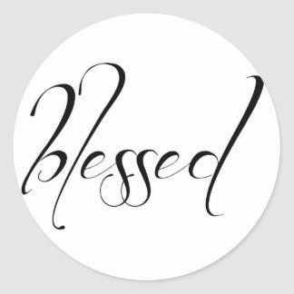 I Am Blessed Statement Card Sticker Seal Round Sticker