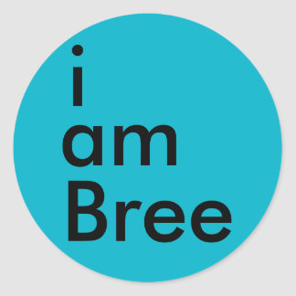 i am Bree Sticker (Blue)