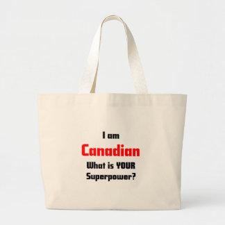 I am Canadian Large Tote Bag