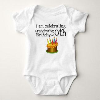 I am celebrating Grandma's 50th birthday Baby Bodysuit