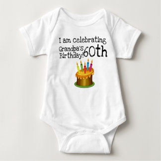 I am celebrating Grandpa's 60th birthday Baby Bodysuit