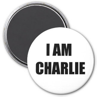 I AM CHARLIE 7.5 CM ROUND MAGNET