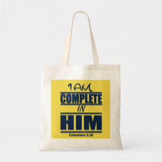 I Am Complete In Him Devotional Budget Tote