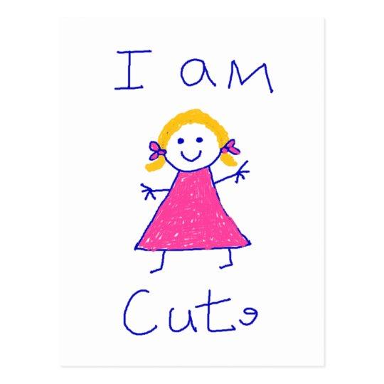 I Am Cute Postcard