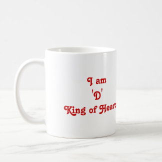 I Am 'D' King of Hearts Mug
