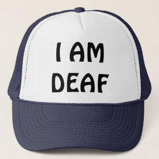 I AM DEAF TRUCKER HAT