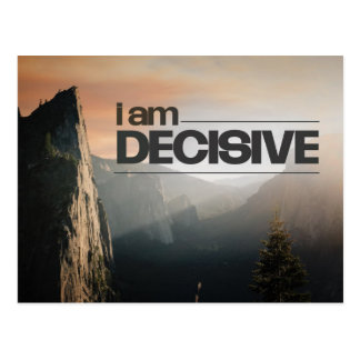 I Am Decisive Postcard