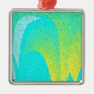 """""""I AM"""" Design Silver-Colored Square Decoration"""