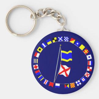 I am drifting Nautical Signal Flag Hoist Key Chain