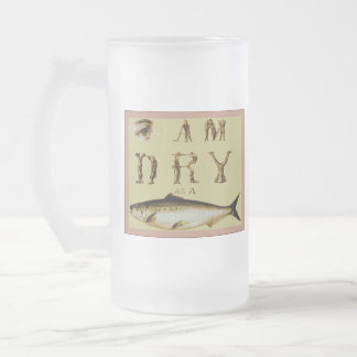 I Am Dry as a Fish Frosted Glass Beer Mug