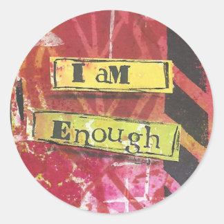 """""""I Am Enough"""" Inspirational Mantra Stickers"""