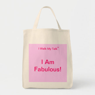 I Am Fabulous organic grocery tote