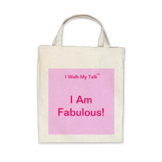 I Am Fabulous organic grocery tote Bags