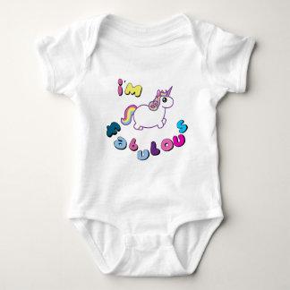 i am fabulous unicorn baby bodysuit