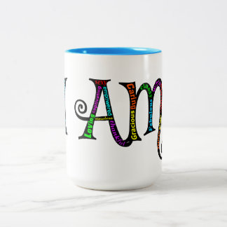 I AM fancy two toned mug