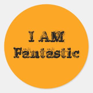 I Am Fantastic Classic Round Sticker