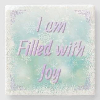 """I Am Filled With Joy"" Decorative Marble Coaster"