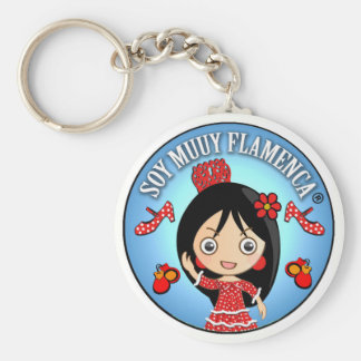I am Flamenco Muuy: Colored person and Red Gypsy S Key Ring