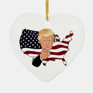 I Am For Trump Heart Ornament