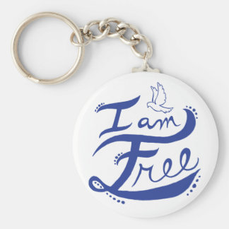 I Am Free Keychain