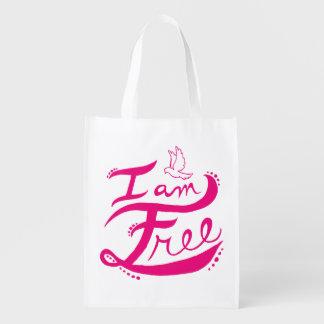 """I Am Free"" Reusable Bag"