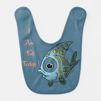 I am full today Fish bib for toddler
