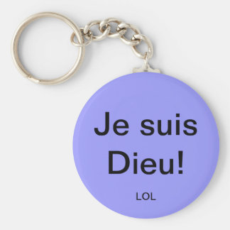 I am God! Key Ring
