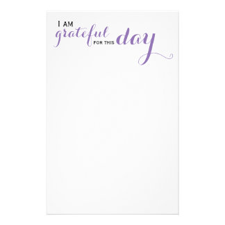 I am Grateful for this Day Stationery