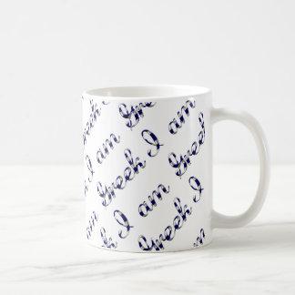 I am Greek Country Pride Typography Pattern Coffee Mug