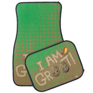 """I Am Groot"" Emoji Car Mat"