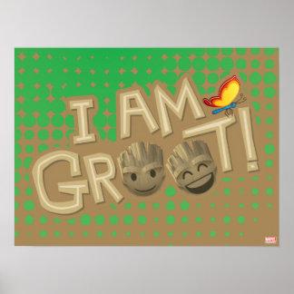 """I Am Groot"" Emoji Poster"