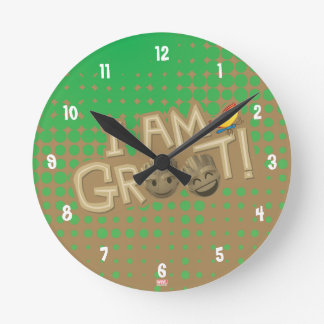 """I Am Groot"" Emoji Round Clock"