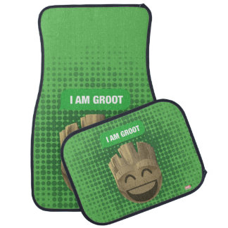 """I Am Groot"" Text Emoji Car Mat"