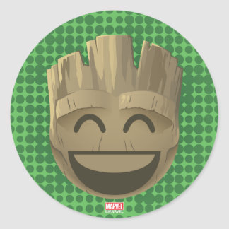 """I Am Groot"" Text Emoji Classic Round Sticker"